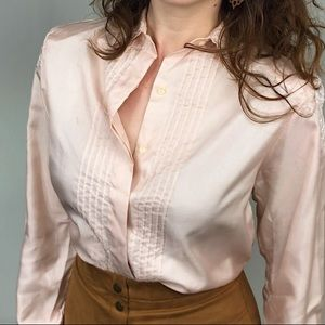 Pink Lace Button Down